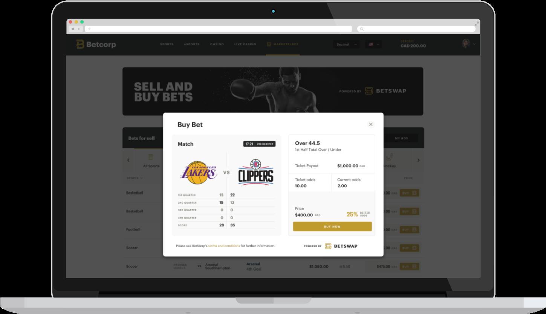 BetSwap Buy Ad